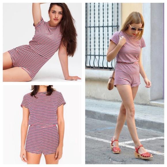 49e86de647d American Apparel Pants - American Apparel Fine Jersey T-Shirt Romper